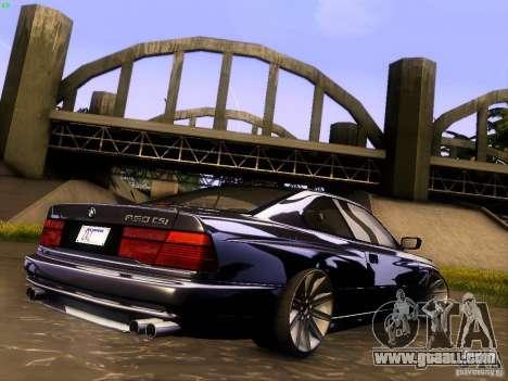 BMW 850 CSI for GTA San Andreas interior