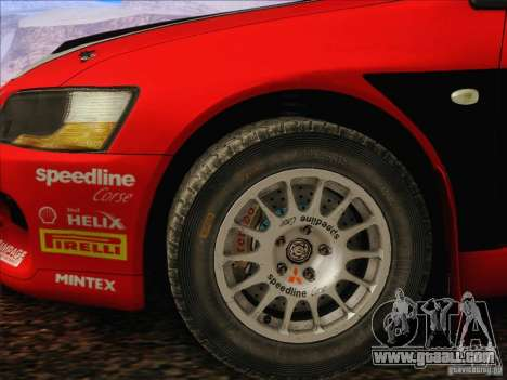 Mitsubishi Lancer Evolution IX Rally for GTA San Andreas inner view