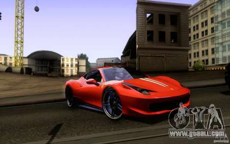 Ferrari 458 Italia Final for GTA San Andreas engine