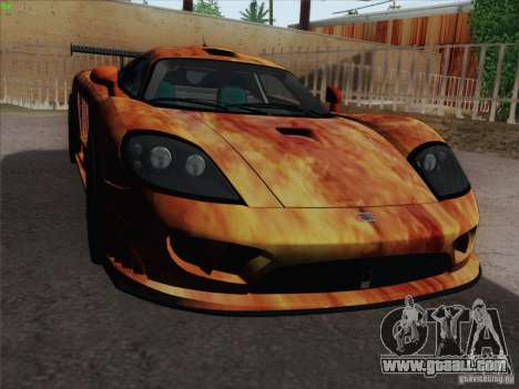Saleen S7 Twin Turbo Competition Custom for GTA San Andreas upper view