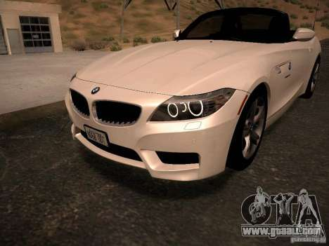 BMW Z4 sDrive28i 2012 for GTA San Andreas engine