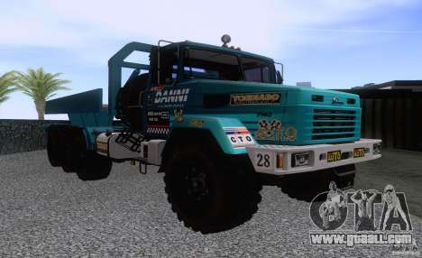 KrAZ 7140H6 Trial for GTA San Andreas left view