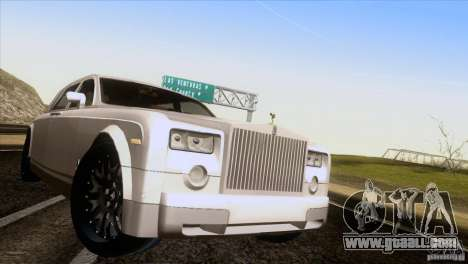 Rolls Royce Phantom Hamann for GTA San Andreas back view