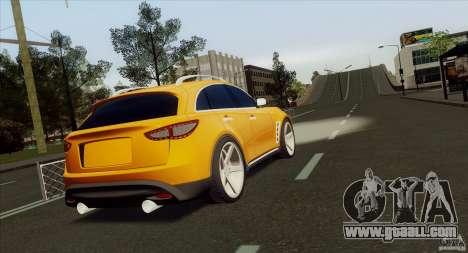 Infiniti FX37 for GTA San Andreas left view