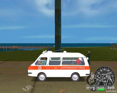 RAF 2203 Ambulance for GTA Vice City right view