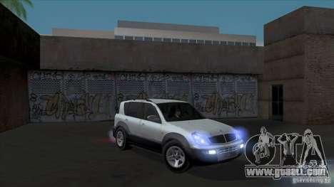 SsangYong Rexton 2005 for GTA San Andreas wheels