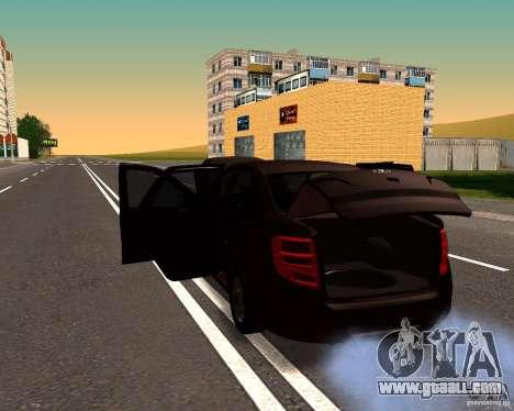 VAZ 2190 Drain for GTA San Andreas left view