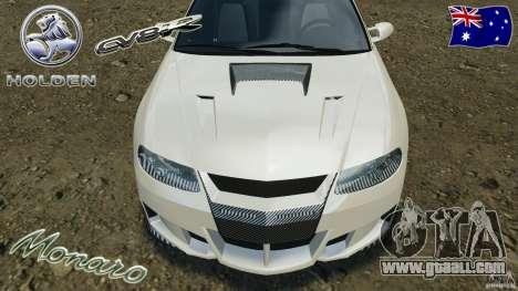 Holden Monaro CV8-R for GTA 4 interior