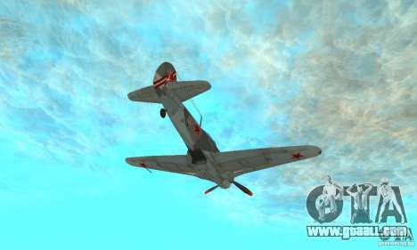 The yak-9 in livery, Sevastopol for GTA San Andreas side view