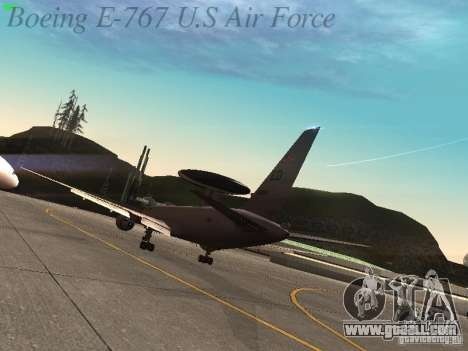 Boeing E-767 U.S Air Force for GTA San Andreas right view