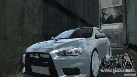 Mitsubishi Lancer EVO X for GTA 4 right view