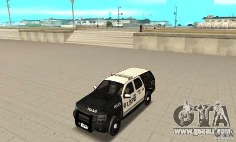Chevrolet Suburban 2007 LSPD for GTA San Andreas