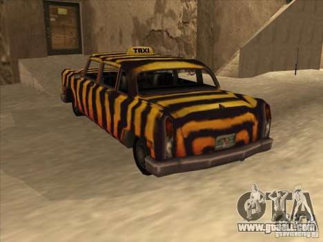 Zebra Cab from Vice City for GTA San Andreas back view