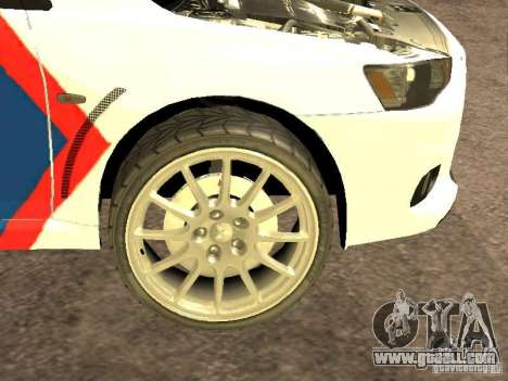 Mitsubishi Lancer X Police Indonesia for GTA San Andreas inner view
