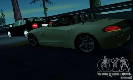 BMW Z4 2010 for GTA San Andreas interior