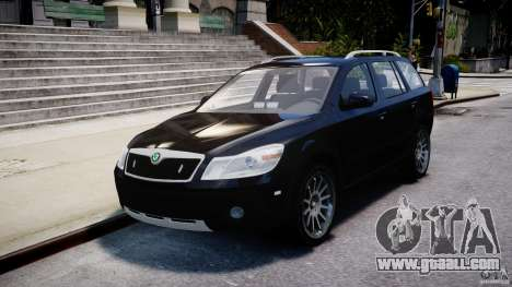 Skoda Octavia Scout Unmarked [ELS] for GTA 4 inner view