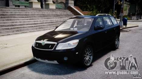 Skoda Octavia Scout Unmarked [ELS] for GTA 4 inner view