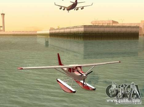 Cessna 152 water option for GTA San Andreas back left view