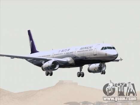 Airbus A321 Air Macau for GTA San Andreas wheels