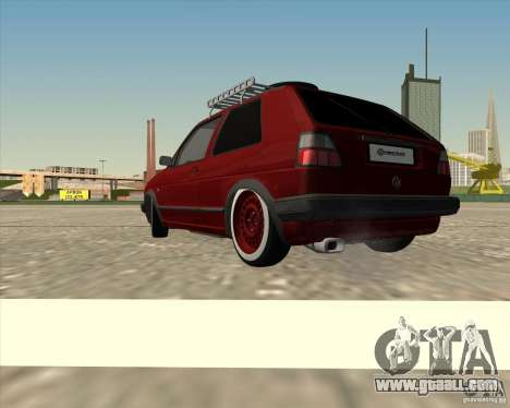 VW Golf II Shadow Crew for GTA San Andreas left view