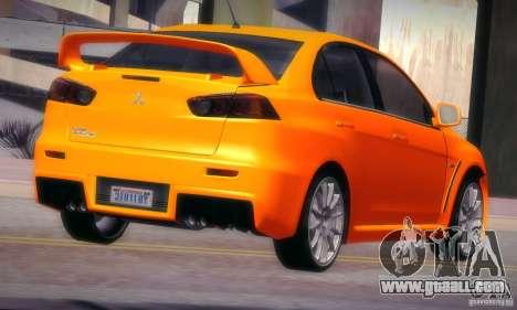 Mitsubishi Lancer Evolution X for GTA San Andreas right view