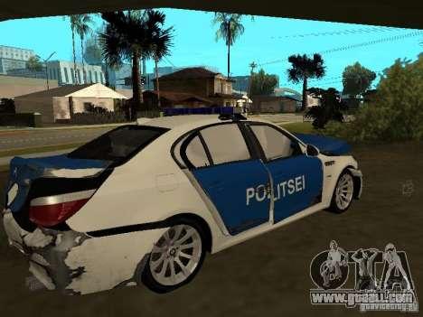 BMW 5-er Police for GTA San Andreas bottom view