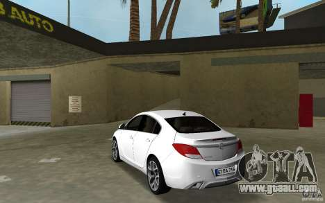 Opel Insignia for GTA Vice City back left view