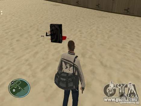 Pedy with bags and phones for GTA San Andreas second screenshot