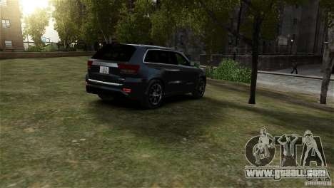 Jeep Grand Cherokee SRT8 for GTA 4 back left view