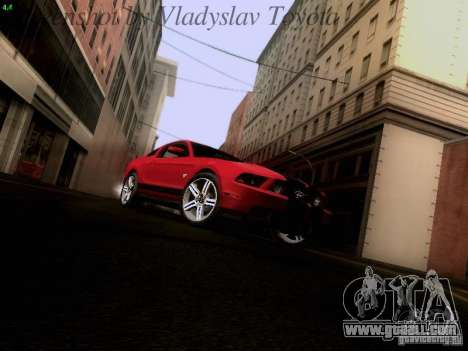 Ford Mustang GT 2011 for GTA San Andreas back view