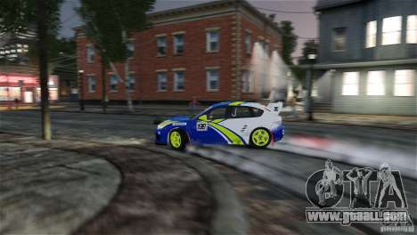 Subaru Impreza WRX STI Rallycross BFGoodric for GTA 4 interior