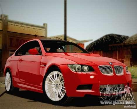 BMW M3 E92 v2.0 for GTA San Andreas