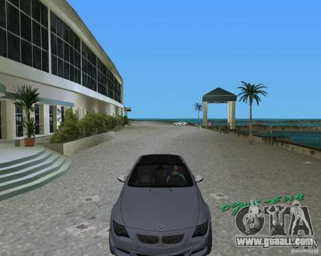 BMW M6 for GTA Vice City left view