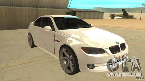 BMW 335i Coupe 2011 for GTA San Andreas back view