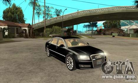 Audi A8 from Carrier 3 for GTA San Andreas back view