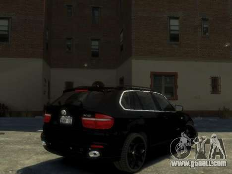 BMW X5 for GTA 4 back left view