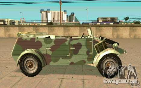 Kuebelwagen for GTA San Andreas left view