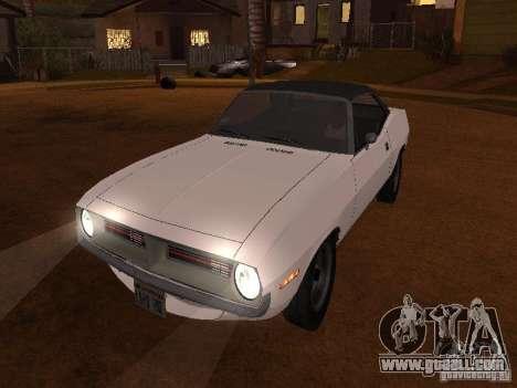 Plymouth Barracuda Rag Top 1970 for GTA San Andreas