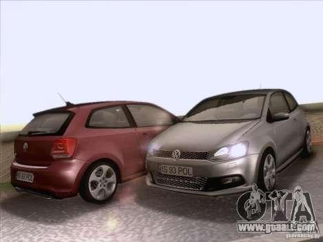Volkswagen Polo GTI 2011 for GTA San Andreas