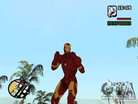 Iron man 2 for GTA San Andreas second screenshot