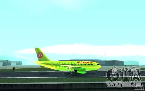 Airbus A310 S7 Airlines for GTA San Andreas inner view