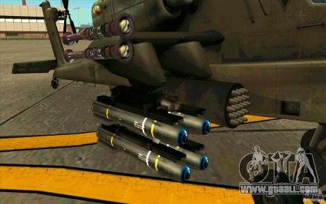 Apache AH64D Longbow for GTA San Andreas back view
