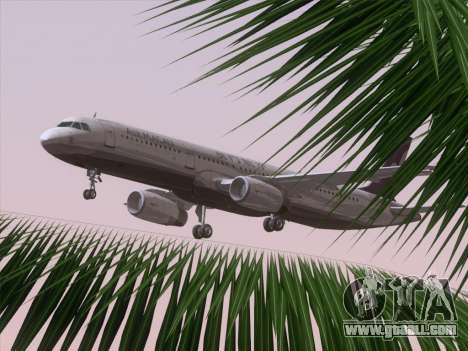 Airbus A321 Air Macau for GTA San Andreas interior