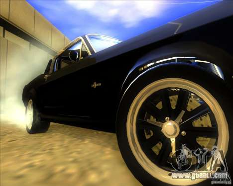 Shelby GT500 Eleanora clone for GTA San Andreas back view