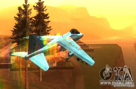 RainbowDash Hydra for GTA San Andreas back view