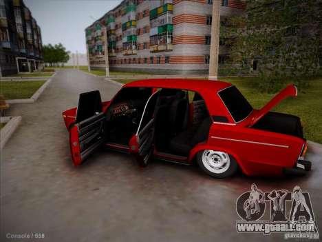 VAZ 2106 Pyatigorsk for GTA San Andreas inner view