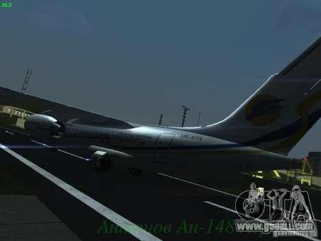 Antonov an-148 Aerosvit Ukrainian Airlines for GTA San Andreas back view