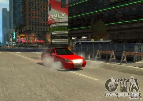 LADA priora hatchback for GTA 4 back left view