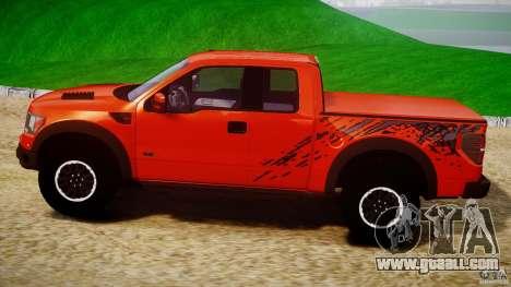 Ford F150 SVT Raptor 2011 for GTA 4 left view