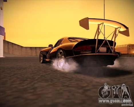 Dodge Viper TT for GTA San Andreas back left view